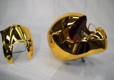 Casco argentato col. oro