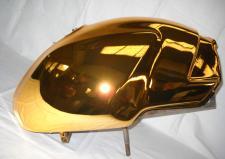 Serbatoio Ducati Monster argentato col. oro rosso