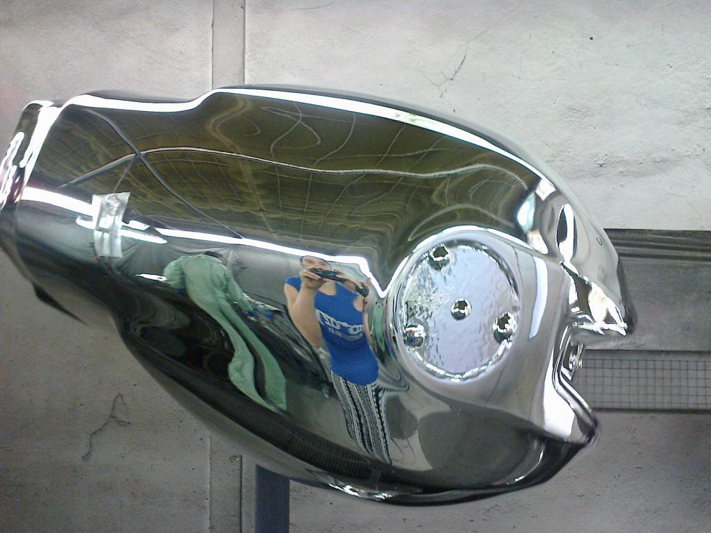 Serbatoio Ducati Cromato